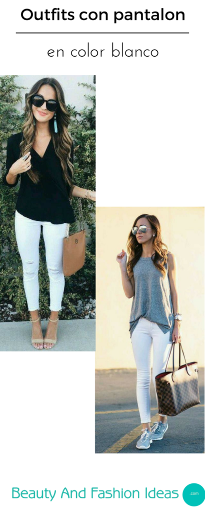 Outfits casuales con jeans blancos | Beauty and fashion ideas Fashion Trends Latest Fashion ...