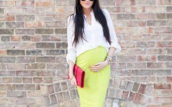 Outfits coloridos para embarazadas