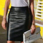 Outfits en tendencia con faldas de cuero