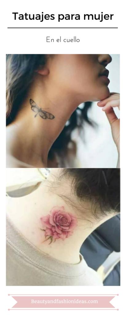 Tatuajes en el cuello para mujeres