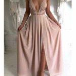 Vestidos de fiesta color nude