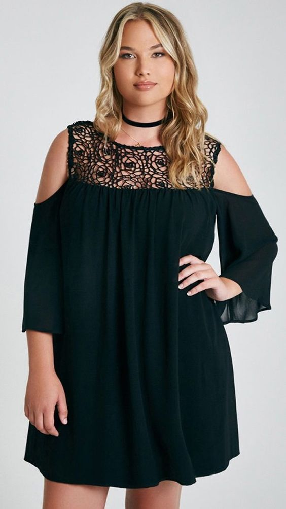 Vestidos de moda para mujeres talla grande