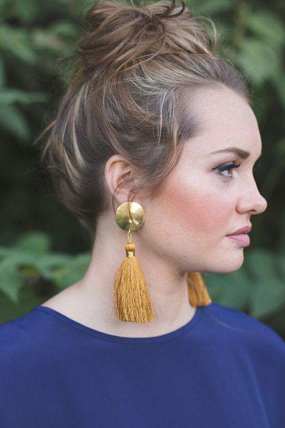 mejor selección a4654 5cee1 Aretes de moda 2017 para mujer (3) | Beauty and fashion ...