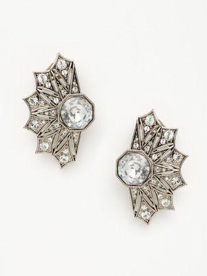 Aretes de moda de plata