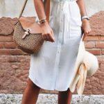 Outfits en color blanco con toques chic ideales para verano
