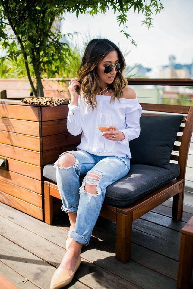 Outfits con blusas blancas ¡Lo mejor para el verano!