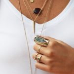 Tendencia en accesorios collares finos en capas