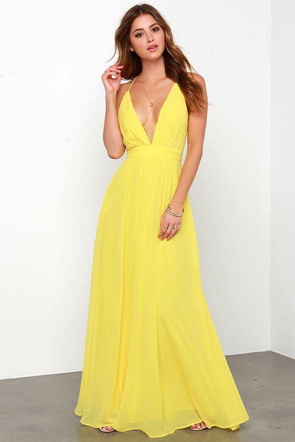 Vestidos 2017 color amarillo