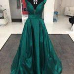 Vestidos de fiesta en color verde esmeralda