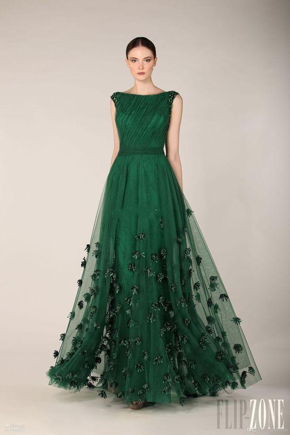 Vestidos De Fiesta En Color Verde Esmeralda 24 Beauty