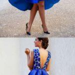 Vestidos de graduación en color azul