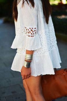 Conjuntos en color blanco para este verano 2017
