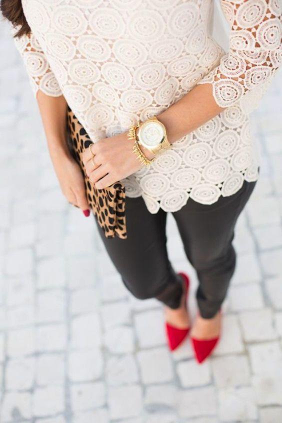 Looks para combinar zapatos rojos