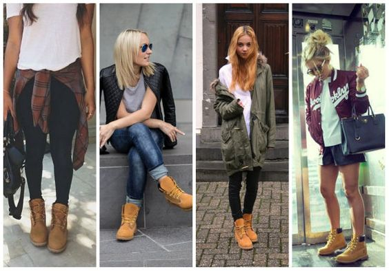9809002284db Outfit Botas Cafes Timberland Mujer