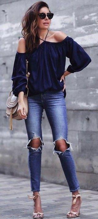 brilliant outfit tacones azul marino 12