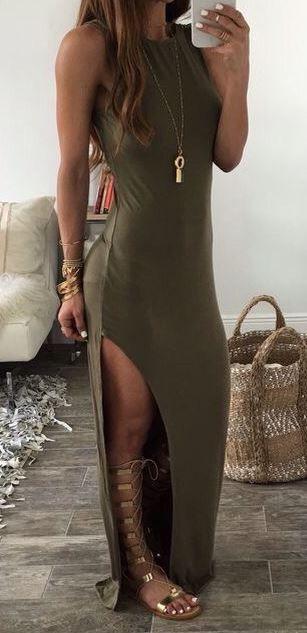 Vestidos largos casuales 2017-2018