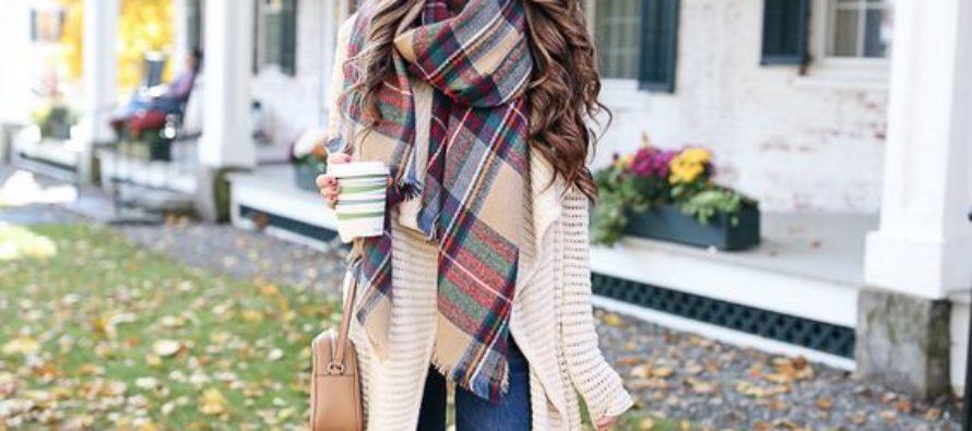 Outfits con bufandas para otoño-invierno 2018