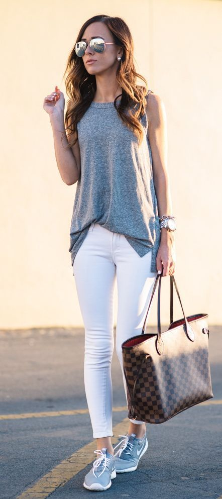 Looks con jeans blancos