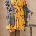 Moda de invierno para chicas talla grande