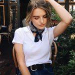 Outfits con pañoletas al cuello - tendencia otoño - invierno 2017