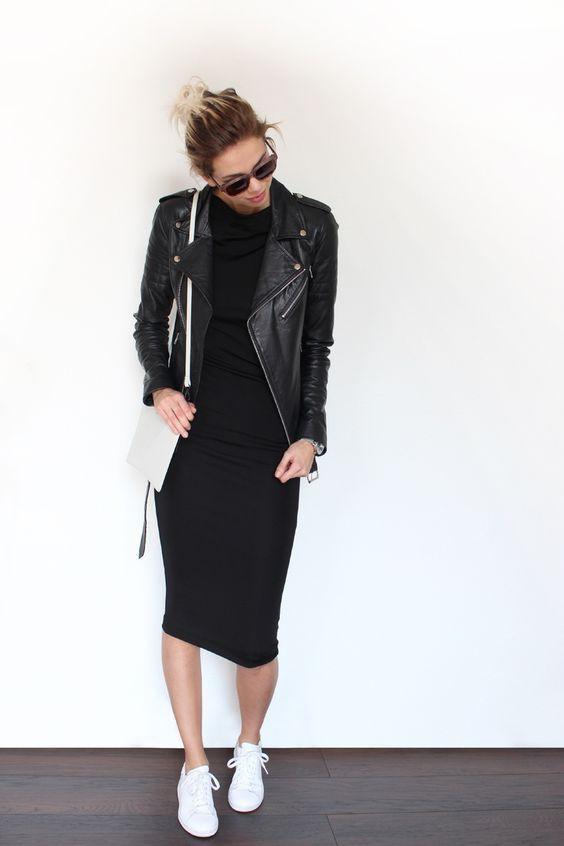 Outfits en color negro para otoño - invierno 2017