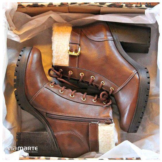 Ideas de botas y botines cafe para este invierno 2017 - 2018 (22)