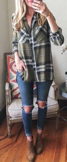 Looks con camisas a cuadros otoño - invierno 2017 (12)