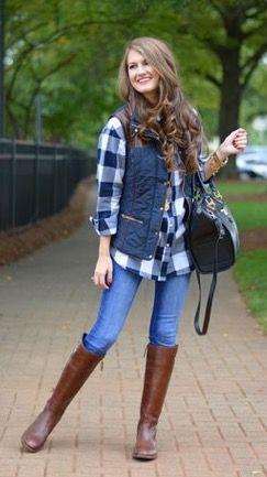 Looks con camisas a cuadros otoño - invierno 2017 (18)