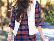 Looks con camisas a cuadros otoño – invierno 2017