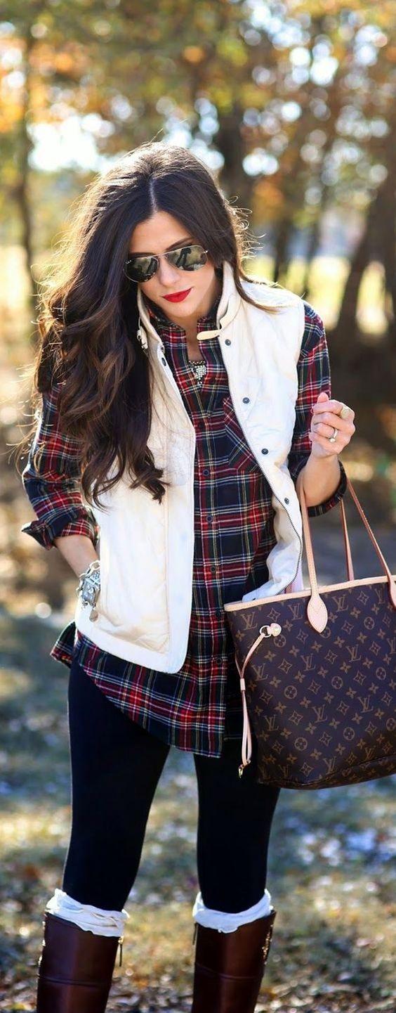 Looks con camisas a cuadros otoño - invierno 2017
