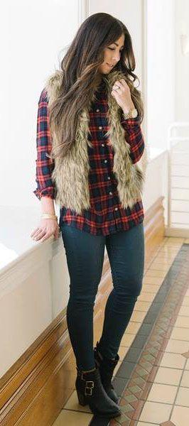 Looks con camisas a cuadros otoño - invierno 2017 (20)