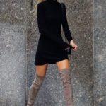 Outfits con botas largas otoño - invierno 2017 - 2018
