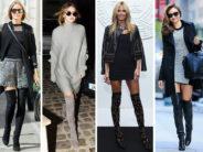 Outfits con botas largas otoño – invierno 2017 – 2018