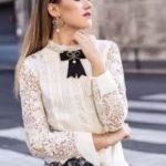 blusas con moño victoriano