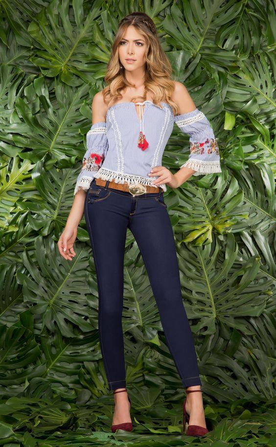 Blusas mexicanas bordadas de moda4