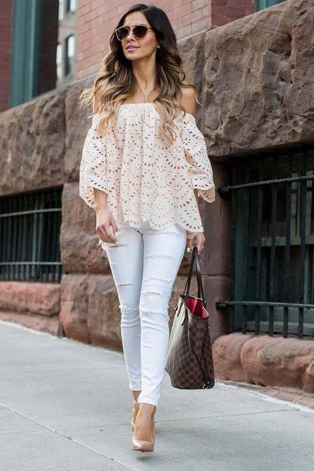 blusas de encaje casuales (1)