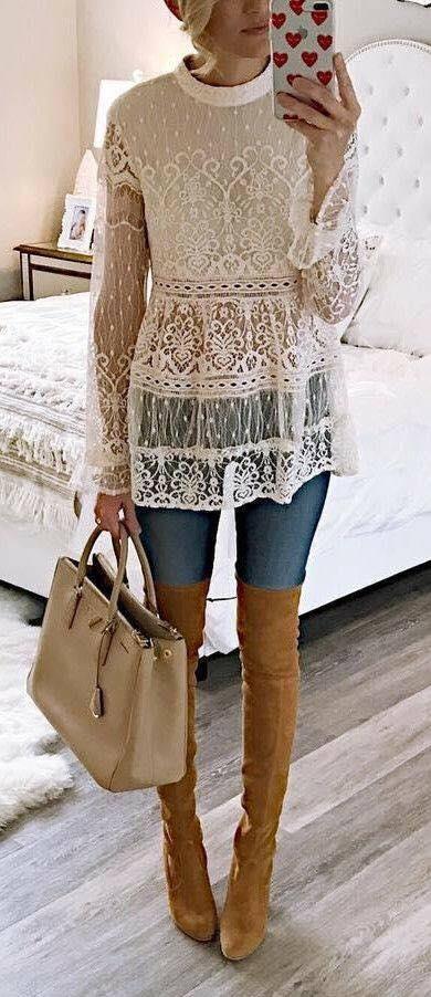 blusas de encaje manga larga (1)