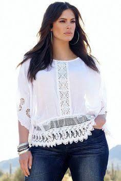 blusas de encaje para gorditas 10