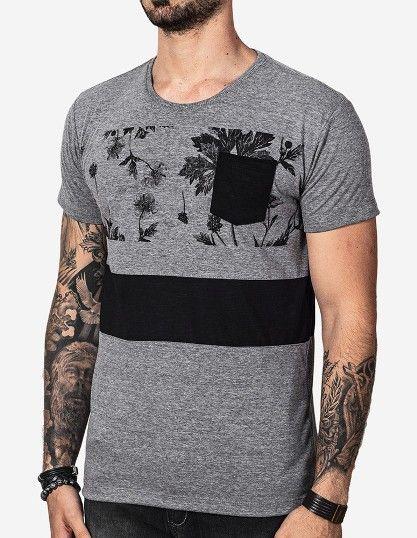 camisetas de hombre cuello redondo