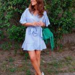 looks en color azul cielo