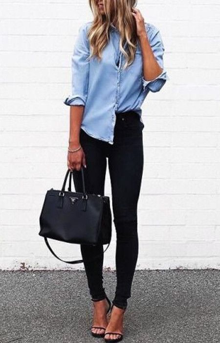 Outfits con camisas de mezclilla