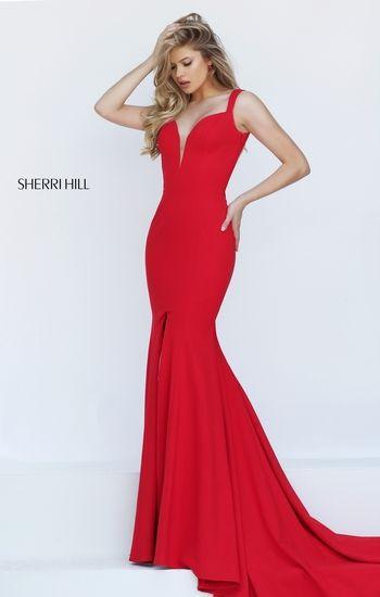 vestido de graduacion color rojo