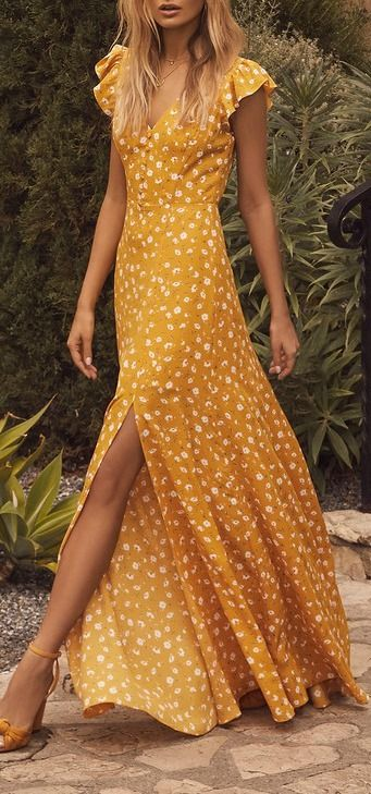 vestidos en color amarillo