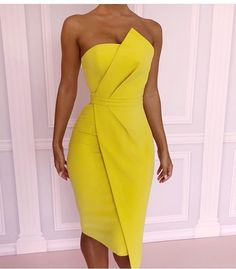 Vestidos En Color Amarillo Beauty And Fashion Ideas