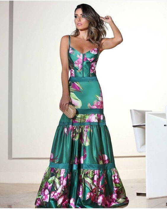 vestidos estampados largos