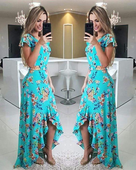 vestidos estampados para mujeres maduras