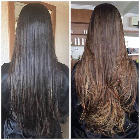 Cortes de cabello en capas largas