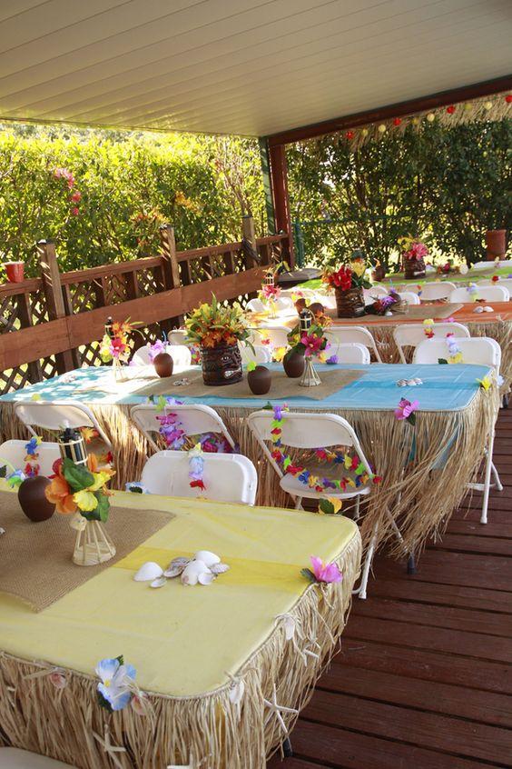 Fiesta hawaiiana para mujer