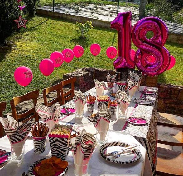 Fiesta para mujer de 18 años