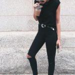 Ideas para combinar jeans negros este verano